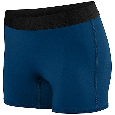 Ladies Hyperform Fitted Shorts Navy Adult Volleyball