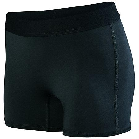 Ladies Hyperform Fitted Shorts Black Adult Volleyball