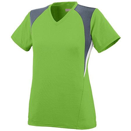 Ladies Mystic Jersey Lime/graphite/white Softball