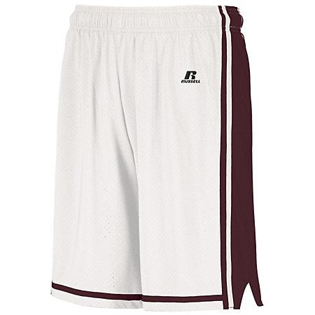 Legacy Basketball Shorts White/maroon Adult Single Jersey &
