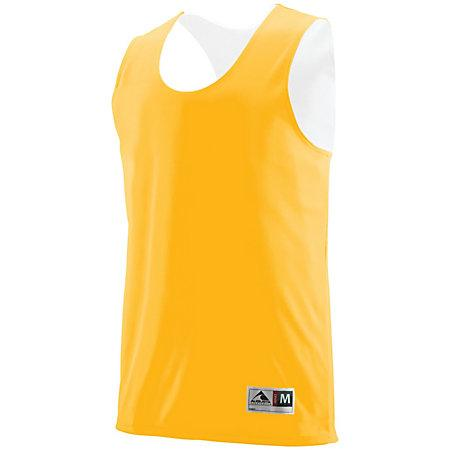 Youth Reversible Wicking Tank Gold/white Basketball Single Jersey & Shorts