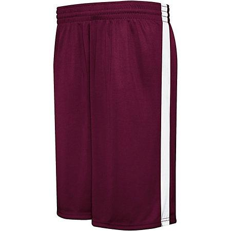 Competition Reversible Shorts Maroon/white Adult Basketball Single Jersey &
