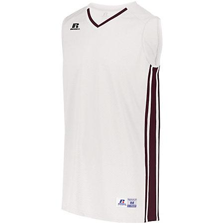 Youth Legacy Basketball Jersey White/maroon Single & Shorts