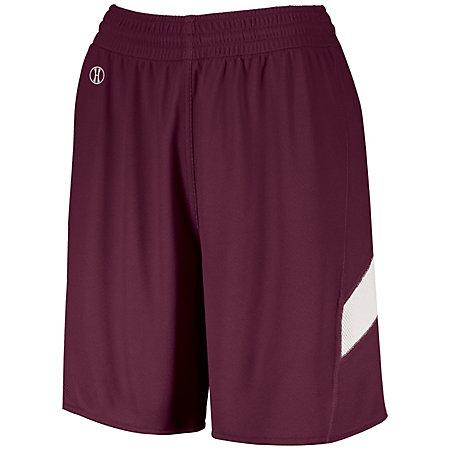 Ladies Dual-Side Single Ply Shorts Maroon/white Basketball Jersey &