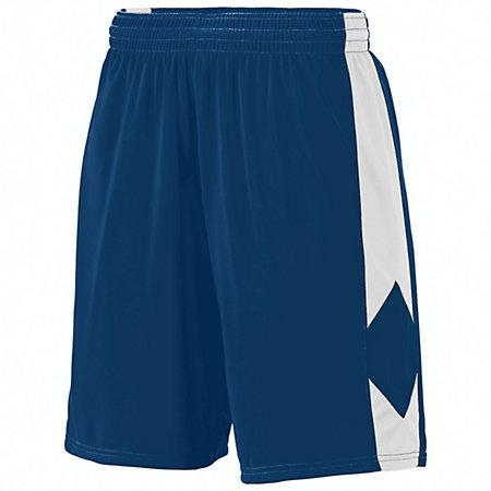 Youth Block Out Shorts Navy/white Basketball Single Jersey &