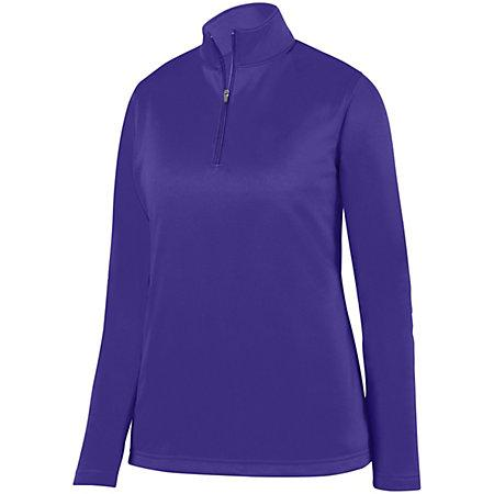 Ladies Wicking Fleece Pullover Purple Basketball Single Jersey & Shorts