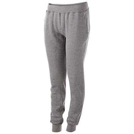 Ladies 60/40 Fleece Jogger Charcoal Heather Softball