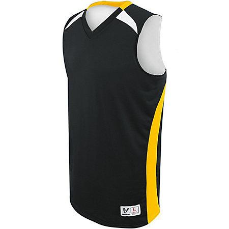 Campus Reversible Jersey Black/athletic Gold/white Adult Basketball Single & Shorts