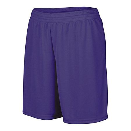 Girls Octane Shorts Purple Softball