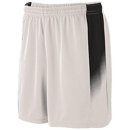 Youth Ionic Shorts Jersey de fútbol individual blanco / negro &