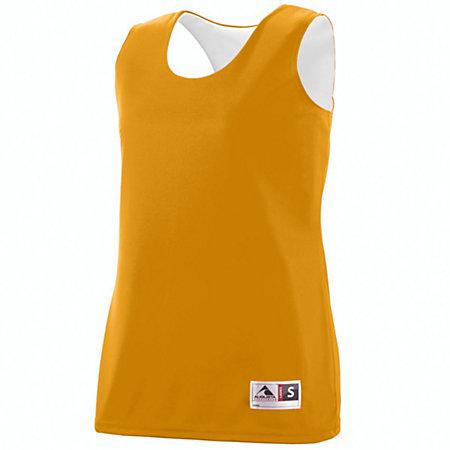 Ladies Reversible Wicking Tank Gold/white Basketball Single Jersey & Shorts