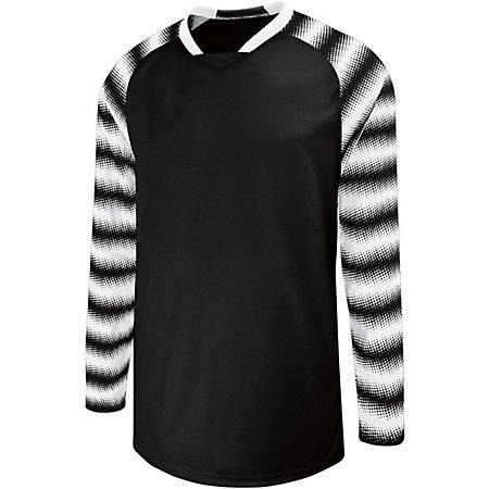 Youth Prism Goalkeeper Jersey Black/white Single Soccer & Shorts