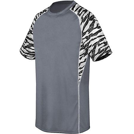 Youth Evolution Printed Shorts Sleeve Jersey Graphite/fragment Print/white Single Soccer &