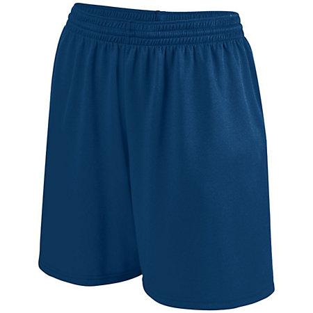 Girls Shortwave Shorts Navy/white Softball