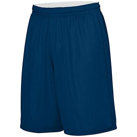 Youth Reversible Wicking Shorts Navy/white Basketball Single Jersey &