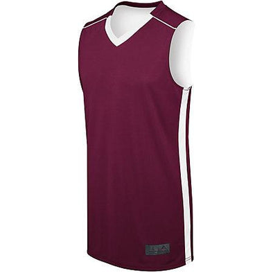 Adult Competition Reversible Jersey Maroon/white Basketball Single & Shorts