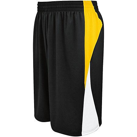Campus Reversible Shorts Black/athletic Gold/white Adult Basketball Single Jersey &