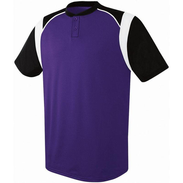 Wildcard Two-Button Jersey Purple/black/white Adult Baseball
