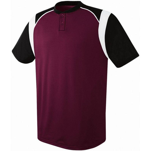 Wildcard Two-Button Jersey Maroon/black/white Adult Baseball