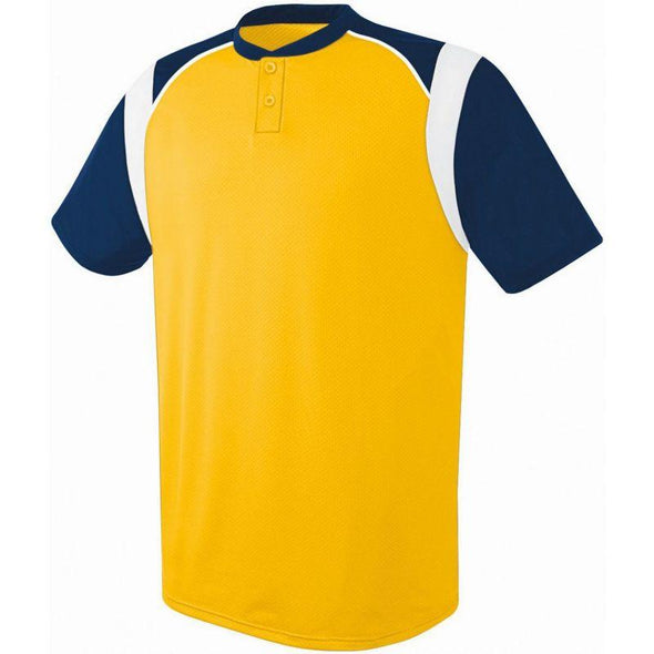 Wildcard Two-Button Jersey Athletic Gold/navy/white Adult Baseball