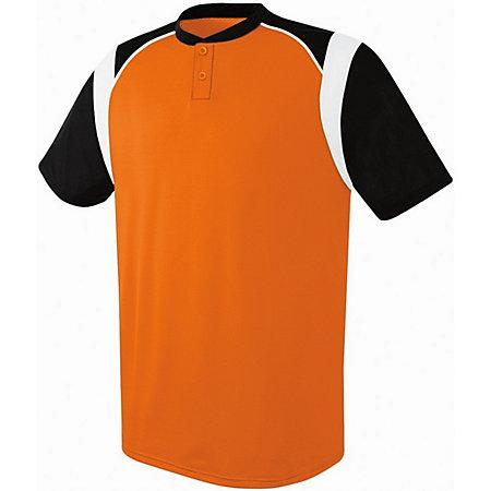 Youth Wildcard Two-Button Jersey Orange/black/white Baseball