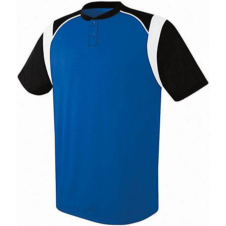 Youth Wildcard Two-Button Jersey Royal/black/white Baseball