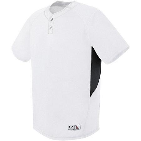 Bandit Two-Button Jersey White/black/white Adult Baseball
