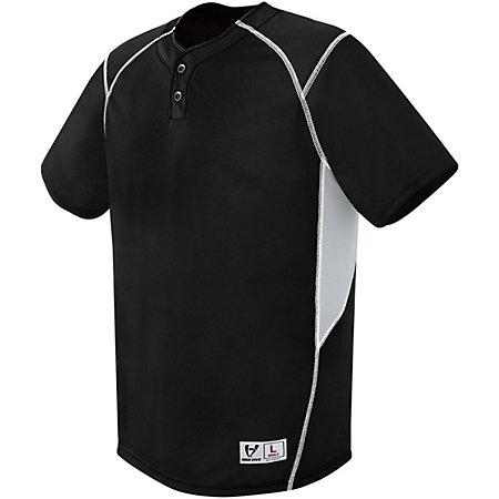Bandit Two-Button Jersey Black/silver Grey/white Adult Baseball