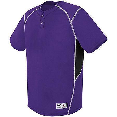 Bandit Two-Button Jersey Purple/black/white Adult Baseball