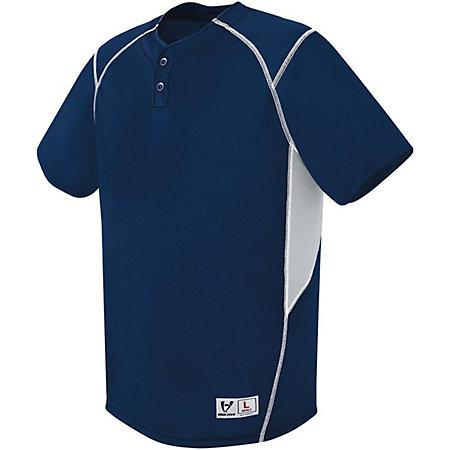 Bandit Two-Button Jersey Navy/silver Grey/white Adult Baseball