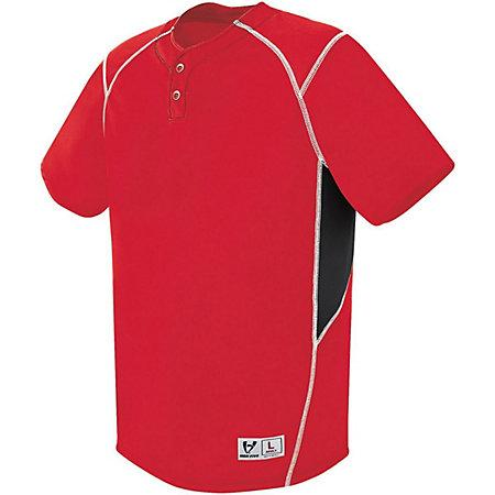 Bandit Two-Button Jersey Scarlet/black/white Adult Baseball