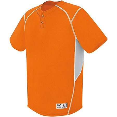 Bandit Two-Button Jersey Orange/silver Grey/white Adult Baseball