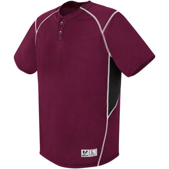 Youth Bandit Two-Button Jersey Maroon/black/white Baseball