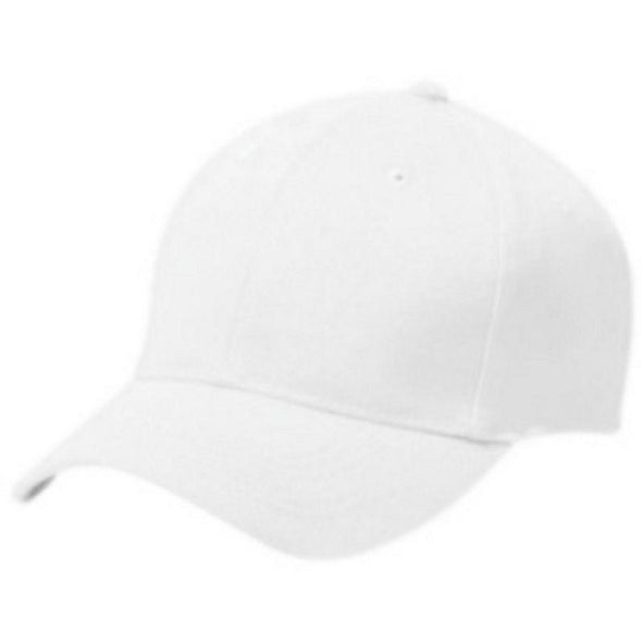 Adult Cotton Twill Six Panel Cap White Baseball