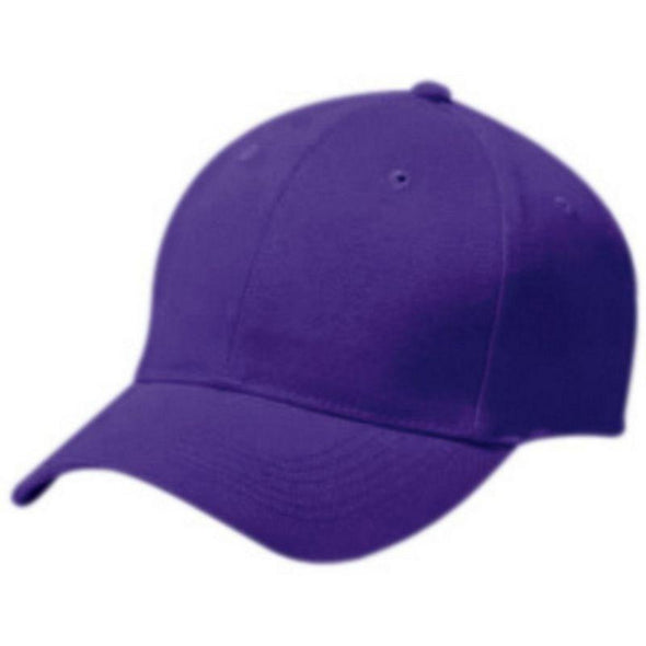 Adult Cotton Twill Six Panel Cap Purple Baseball