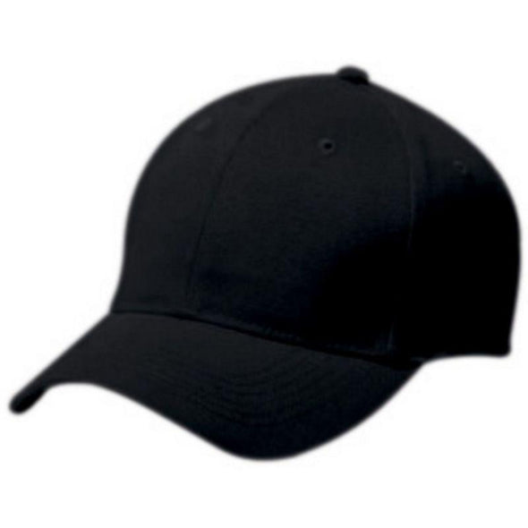 Adult Cotton Twill Six Panel Cap Black Baseball