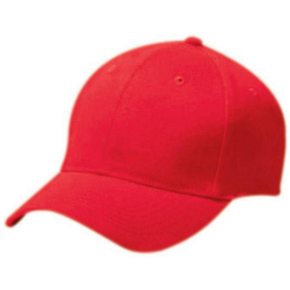 Adult Cotton Twill Six Panel Cap Scarlet Baseball