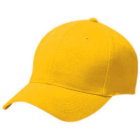 Adult Cotton Twill Six Panel Cap Athletic Gold Baseball