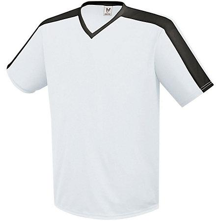 Genesis Soccer Jersey White/black Adult Single Soccer Jersey & Shorts