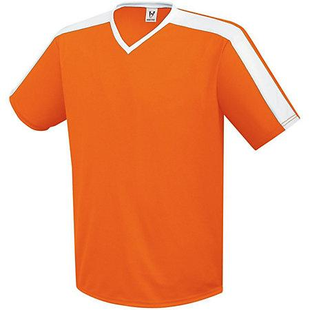 Genesis Soccer Jersey Orange/white Adult Single Soccer Jersey & Shorts