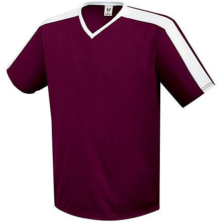 Genesis Soccer Jersey Maroon/white Adult Single Soccer Jersey & Shorts
