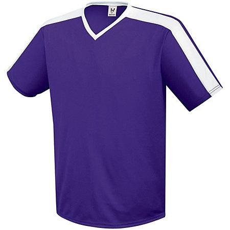 Genesis Soccer Jersey Purple/white Adult Single Soccer Jersey & Shorts