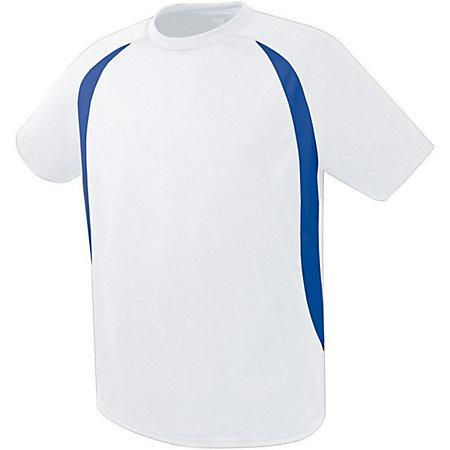 Liberty Soccer Jersey White/royal Adult Single & Shorts