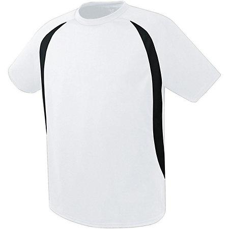 Liberty Soccer Jersey White/black Adult Single & Shorts
