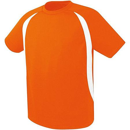 Liberty Soccer Jersey Orange/white Adult Single & Shorts
