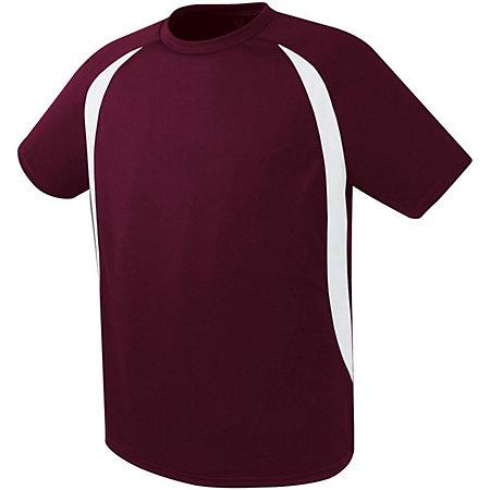 Liberty Soccer Jersey Maroon/white Adult Single & Shorts