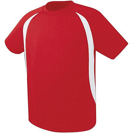 Liberty Soccer Jersey Scarlet/white Adult Single & Shorts