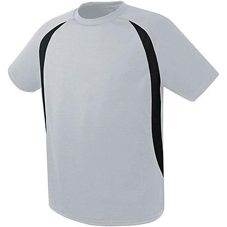 Liberty Soccer Jersey Silver Grey/black Adult Single & Shorts