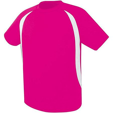 Liberty Soccer Jersey Raspberry/white Adult Single & Shorts