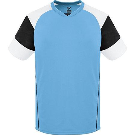 Munro Jersey Columbia Blue/black/white Adult Single Soccer & Shorts